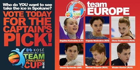 Российские болельщики могут проголосовать за своих спортсменов — кандидатов Team Challenge Cup